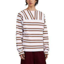 Triple-Striped Cotton Oversized Sweatshirt