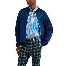 Checked Jersey Track Jacket