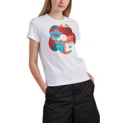 Glitter-Flower Logo T-Shirt