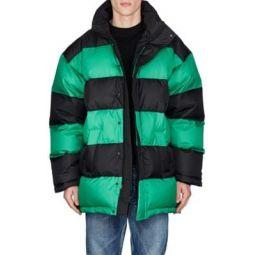 Striped Puffer Coat