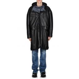 Leather Oversized Taxi Coat
