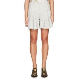 Crepe Tulle-Ruffle Shorts