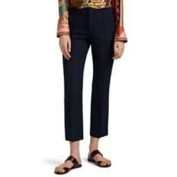 Wool Gabardine Straight Pants