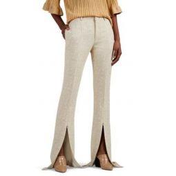 Crepe Split-Hem Trousers