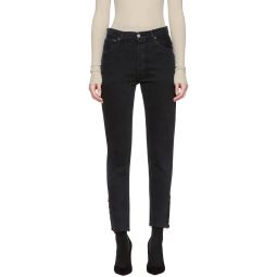 Black Re/Done Levi's Edition Tenim High-Rise Ankle Crop Jeans