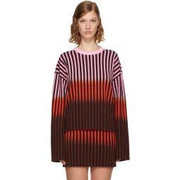 Multicolor Dip Dye Striped Sweater