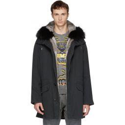 Black Original Fur Parka