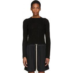 Black Biker Lupetto Sweater