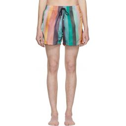 Multicolor Classic Multistripe Swim Shorts