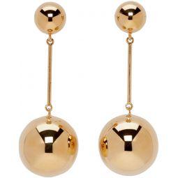 Gold Sphere Drop Earrings