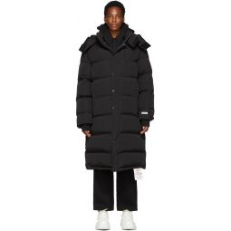 Black Down Long Puffer Jacket