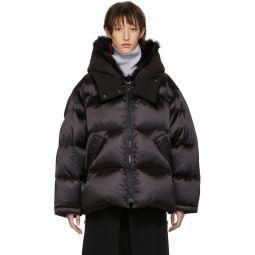 Black Down Merino Shearling Coat