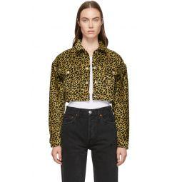 Beige Leopard Cropped Jacket