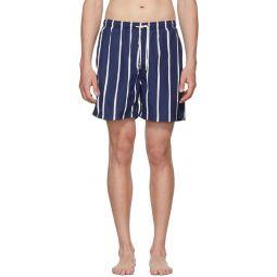 Blue & White Slate Bondi Stripe Classic Shorts