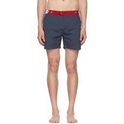 Navy & Red The Kennedy Swim Shorts