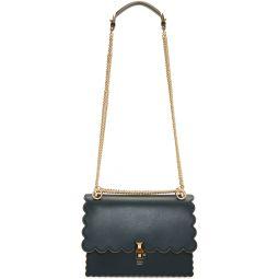 Blue Medium Scalloped 'Kan I' Bag