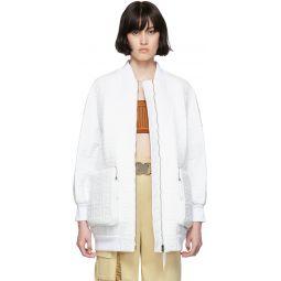 White 'Forever Fendi' Bomber Jacket