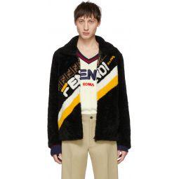 Black Shearling 'Fendi Mania' Jacket