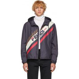 Navy 'Fendi Mania' Jacket