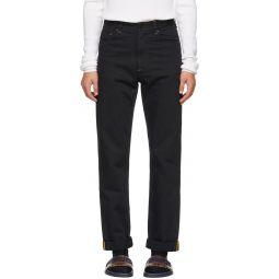 Black 'Fendi Mania' Jeans