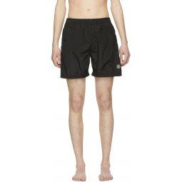Black Nylon Swim Shorts