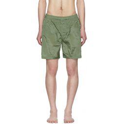 Green Nylon Swim Shorts