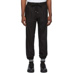 Black Cotton Lounge Pants