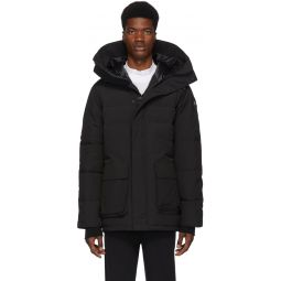 Black 'Black Label' Down Wedgemount Parka