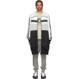 White & Grey Oversize Varsity Track Jacket