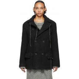 Black Wool Herringbone Jacket