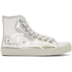 Transparent Tabi High-Top Sneakers