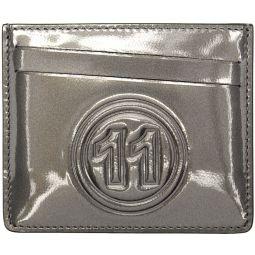Grey Metallic Card Holder