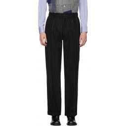 Black Pinstripe Trousers