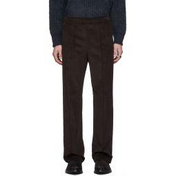 Brown Corduroy Velvet Band Trousers