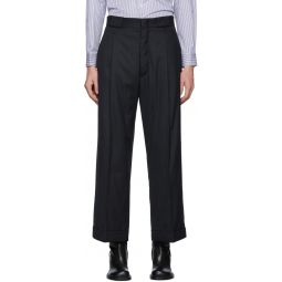 Navy Stripe Tailoring Trousers