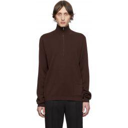 Brown Zip Sweater