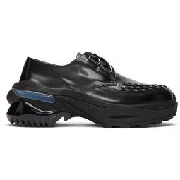 Black Ridged Sole Creeper Sneakers