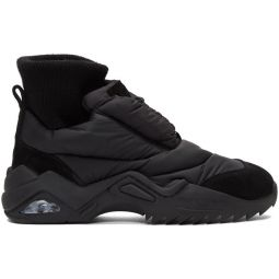 Black Puffer Sneakers