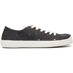 Black & Silver Defile Vandal Tabi Sneakers