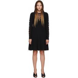 Black Knit Ottoman Mini Dress