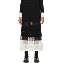 Black & Off-White Rib Knit Skirt