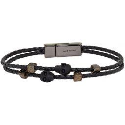 Black Skull & Dice Bracelet