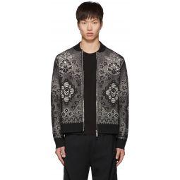 Black & White Ivy Lace Bomber Jacket