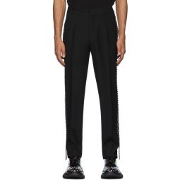 Black Stud Trousers