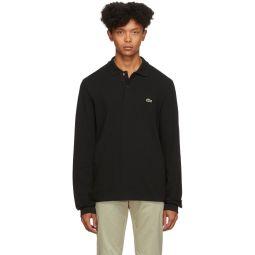 Black Classic Long Sleeve Polo