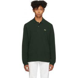 Green Classic Long Sleeve Polo