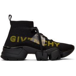 Black Jaw Mid-Top Sneakers