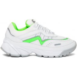 White & Green Demo Sneakers