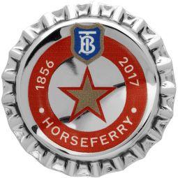 Silver Bauhaus Bottle Cap Pin