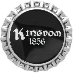 Silver & Black Bauhaus Bottle Cap Pin